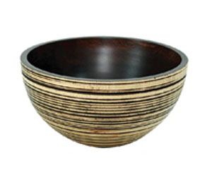 decorative wood bowl bw009l sp7 eb