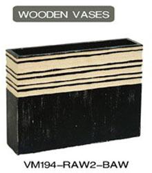 decorative wood vase vm196 raw2 baw