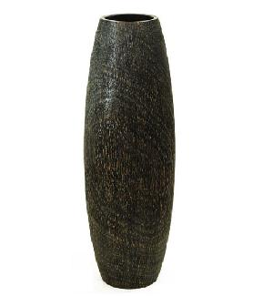 vintage wood vase v6 312 wt 08 lb