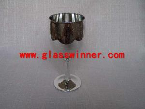 champagne glass silvering 2