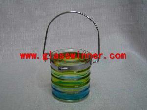 hanging glass votive holder