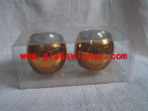 metallic egg glass