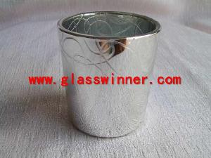 metallic votive glass holder