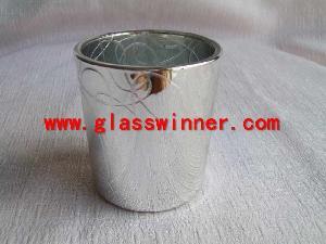metallic votive holder