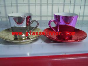 plating ceramic cup plate