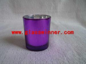 purple glass cup