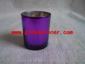 purple plated glass