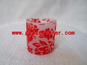 flocked glass cup