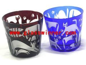 sandblast glass cup