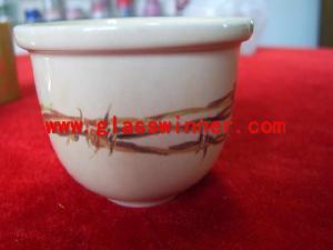 silk screen glass bowl