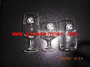 silk screen goblet glass
