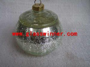 silver crackle glass jar