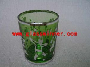 silver rimmd candle holder