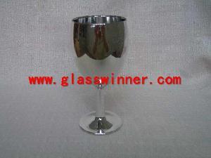slivering champagne glass
