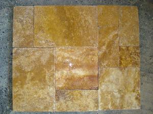 travertine pavers honed chiselled edge tumbled multisize
