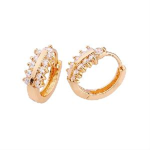 factory 18k gold plating brass cubic zirconia cz jewelry costume ring earring