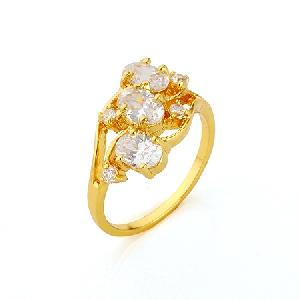 factory 18k gold plating brass cubic zirconia ring fashion jewelry costume earring