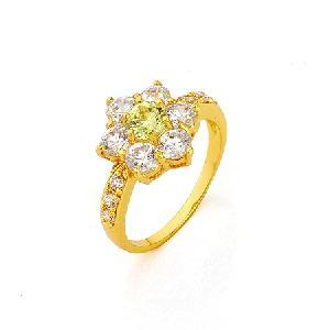 factory 18k gold plating brass cubic zirconia ring prehnite gemstone earring