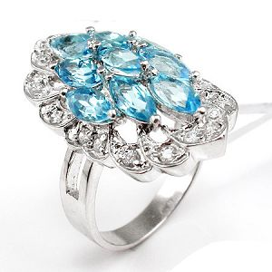 factory sterling silver blue topaz citrine ring jewelry prehnite chalcedony earring
