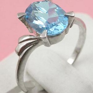 factory sterling silver blue topaz ring cz jewelry prehnite bracelet chalcedony earri
