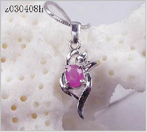 factory sterling silver ruby pendant amethyst tourmaline ring blue topaz necklace r