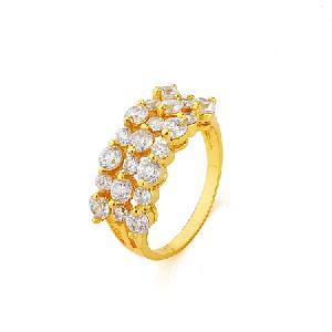 manufactory 18k gold plating brass cubic zirconia ring bracelet gemstone fashion cz jewelry