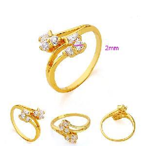 manufactory 18k gold plating brass cubic zirconia ring costume jewelry precious stone rin