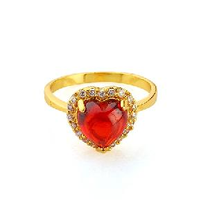 manufactory 18k gold plating brass cubic zirconia ring gemstone jewelry fashion cz