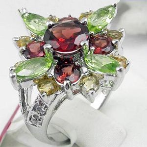 manufactory sterling silver mix gem ring gemstone jewelry fashion cz pendant