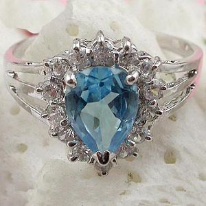 manufactory sterling silver blue topaz ring fashion cz jewelry amethyst earring