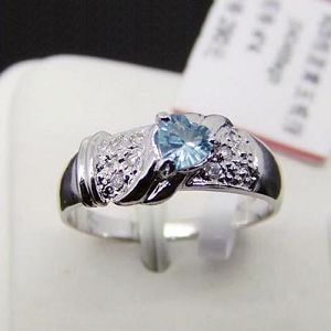 manufactory sterling silver blue topaz ring sapphire amethyst earring