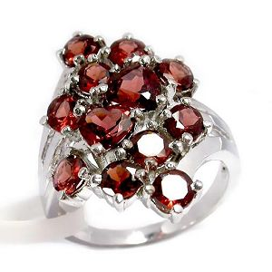 manufactory sterling silver garnet ring moonstone amethyst gemstone jewelry citr