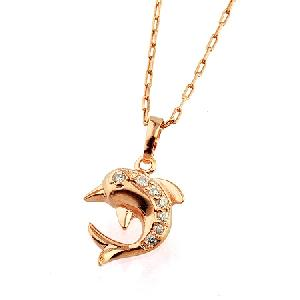 Sell 18k Gold Plating Brass Cubic Zirconia Dolphin Pendant, Titanium Plated Ring, Bracelet