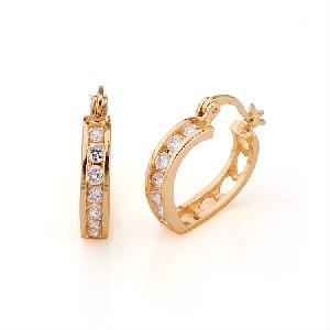 18k gold plating brass cubic zirconia hoop earrings bracelet prehnite pendant gemstone jewel
