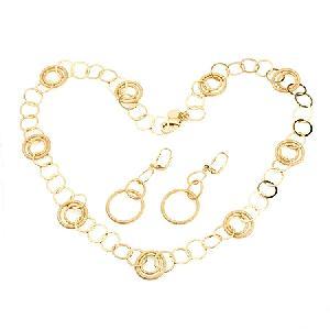 18k gold plating brass cubic zirconia jewelry earring necklace cz fashion