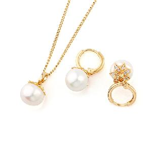 18k gold plating brass cubic zirconia jewelry silver moonstone pendant