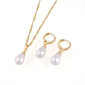 18k gold plating brass cubic zirconia jewelry precious pearl fashion cz