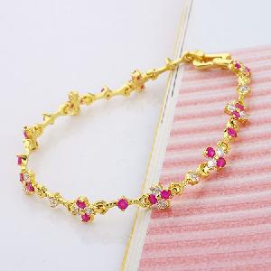 18k gold plating brass cubic zirconia pendant jewelry cz