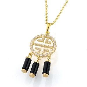 18k gold plating brass cubic zirconia pendant bracelet tourmaline ring earring necklace