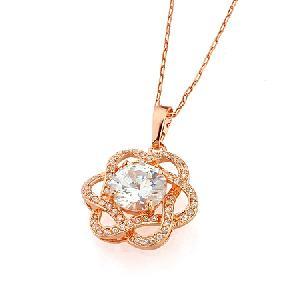 18k gold plating brass cubic zirconia pendant cz bracelet ring rhinestone jewelry