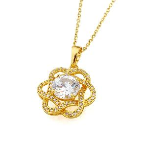 18k gold plating brass cubic zirconia pendant cz jewelry necklace earring bracelet
