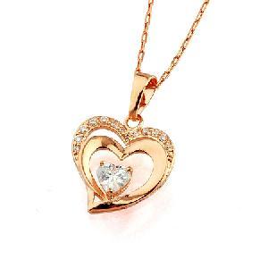18k gold plating brass cubic zirconia pendant cz costume bracelet rhinestone earring