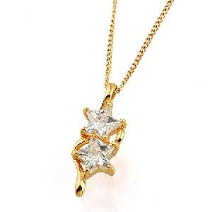 18k gold plating brass cubic zirconia pendant fashion cz jewelry titanium plated bracel