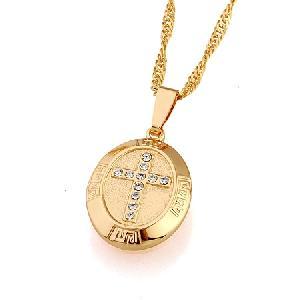 18k gold plating brass cubic zirconia pendant fashion jewelry ring earring