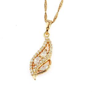 18k gold plating brass cubic zirconia pendant fashion cz jewelry earring silver