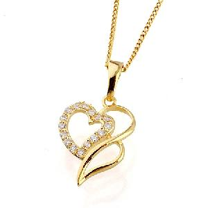 18k gold plating brass cubic zirconia pendant fashion rhinestone jewelry pearl necklace