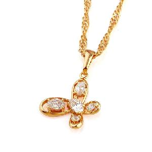 18k gold plating brass cubic zirconia pendant fashion rhinestone ring silver jewelry