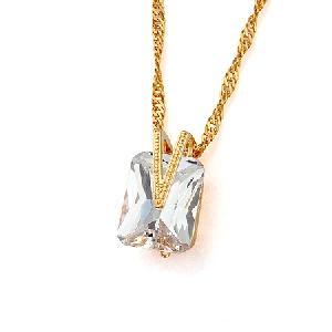 18k gold plating brass cubic zirconia pendant fashion precious stone bracelet ring