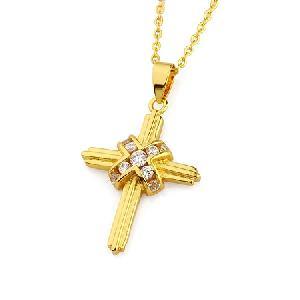 18k gold plating brass cubic zirconia pendant gemstone jewelry ring earring necklace