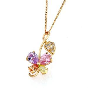 18k gold plating brass cubic zirconia pendant jadeite bracelet earring ruby ring